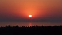 [施設]屋上からの眺め(日本海に沈む夕日)*