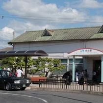 【ホテル最寄駅(JR南部駅)】ローカル駅ですが特急(くろしお号)も停まります。