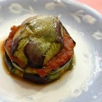 夕食 茄子のミルフィーユ