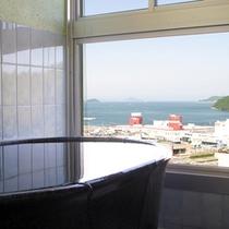 楽-特別室の展望風呂