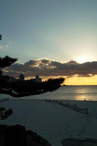 白良浜夕景
