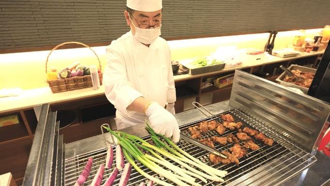 ステージキッチンでおもてなし!天然本鮪寿司&牛ステーキ&天ぷらetc新鮮作りたてビュッフェ♪