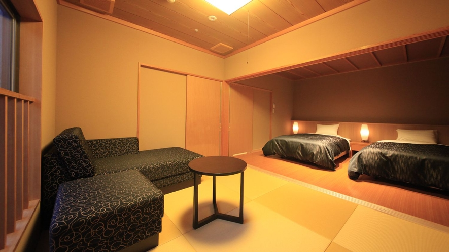 【露天風呂付客室・禁煙】天然温泉100%露天風呂付和洋室
