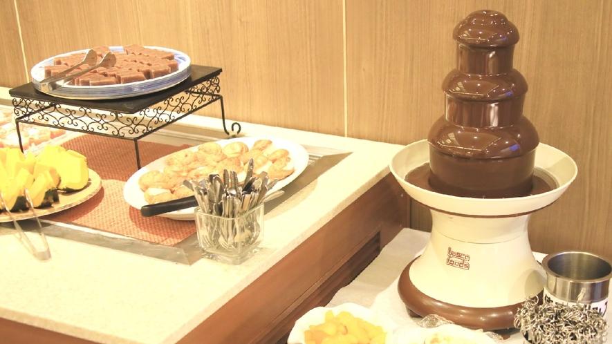 【ビュッフェ】女性やお子様にも人気のチョコレートフォンデュ