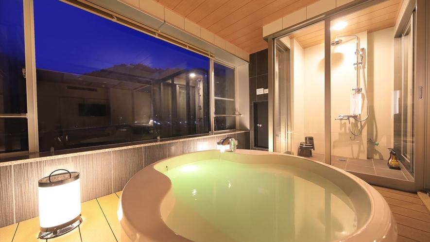 【貴賓室・禁煙】半露天風呂付・和室12.5畳+ツインベット