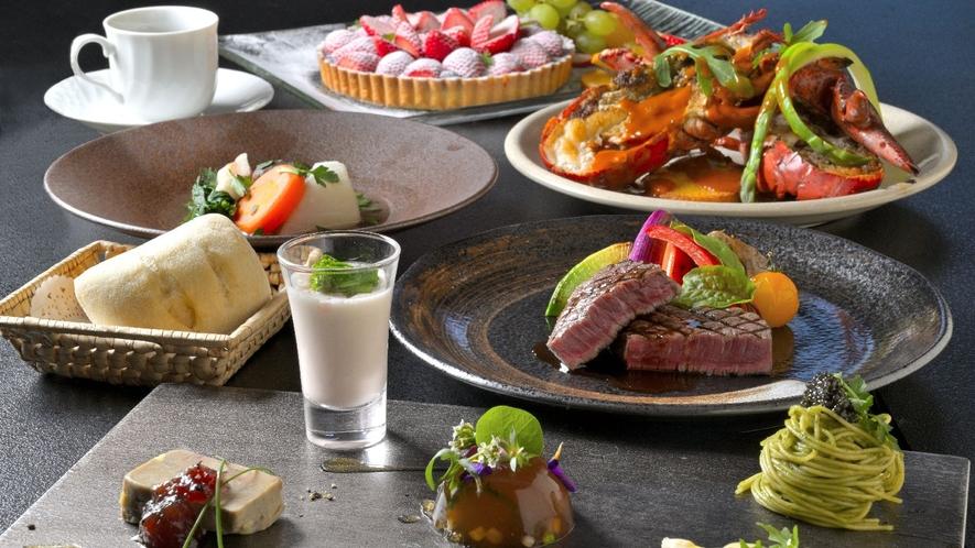 【洋食】オマール海老と赤城和牛のディナーコース