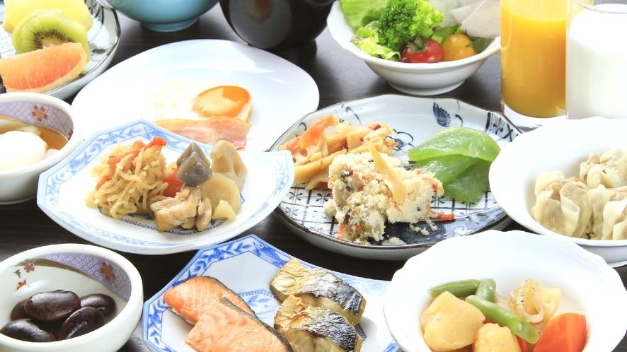 【ビュッフェ】洋食と和食のメニューが豊富に提供されている朝食ビュッフェです