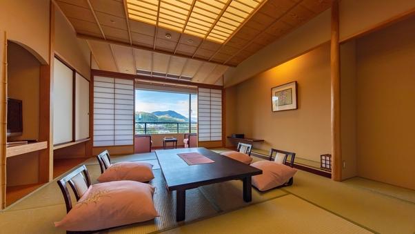 【喫煙】秋保の里山が見渡せるゆったり10〜12畳和室