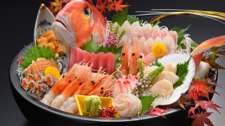 【ご夕食】各種オプション料理もございます。お気軽にご相談下さい(一例)