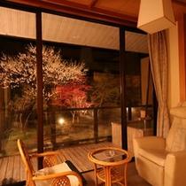 テラス付客室『吟龍』やまぶき 夜景