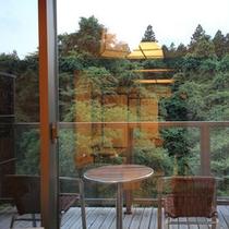 テラス付客室『月代』おだまき お部屋からの景色