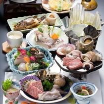 ■隠岐海鮮石焼(一例)■島根和牛・ひおうぎ貝・さざえなどをジュワ~っ!