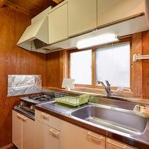 *【ログハウス標準棟キッチン】自由にお料理をお楽しみいただけます!