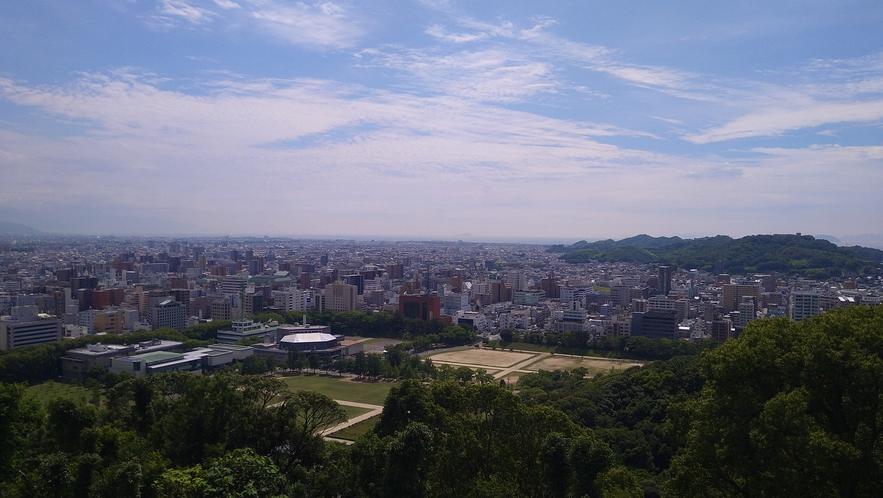 【松山城からの眺め】徒歩約30分