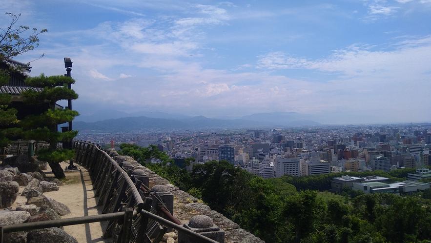 【松山城からの風景】松山城までレンタサイクルで約15分