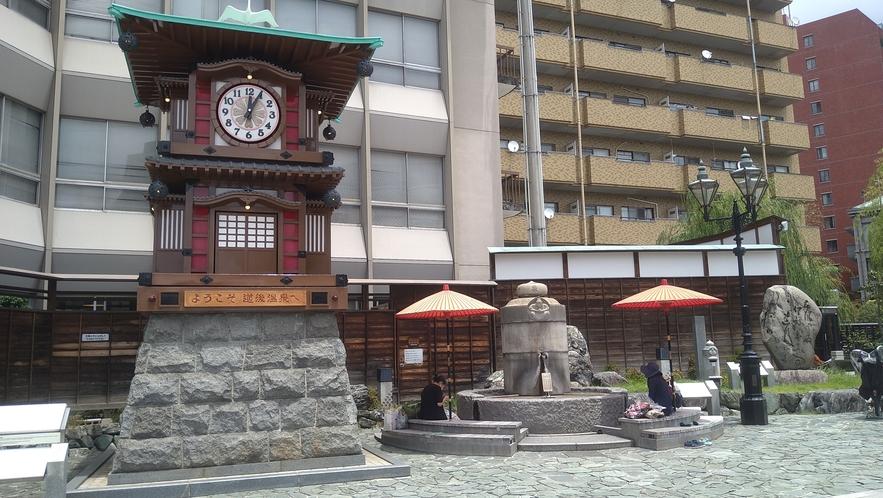 【坊ちゃんカラクリ時計】1994年、道後温泉本館建設百周年を記念し、作られました