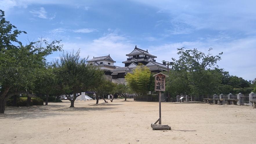 【松山城】別名 勝山城や金亀城と呼ばれています