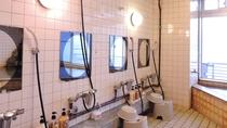 *【館内一例】展望大浴場の洗い場