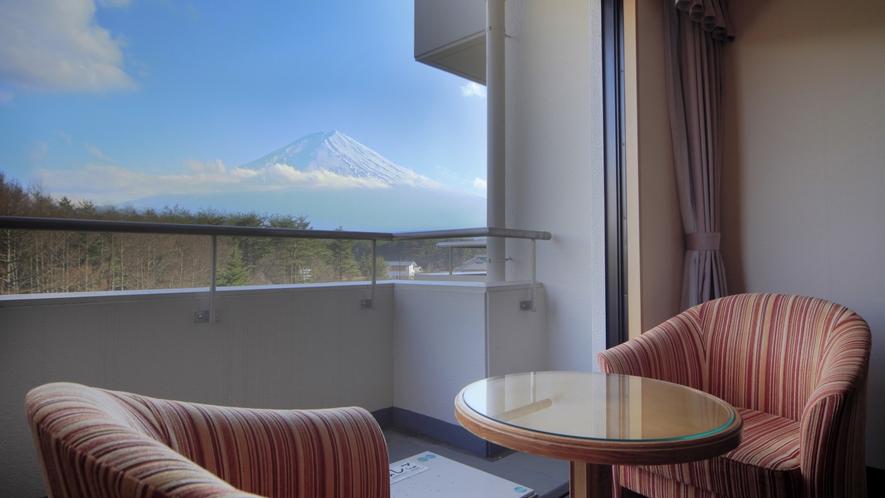 客室からの富士山