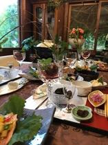 秋の恵みのディナー