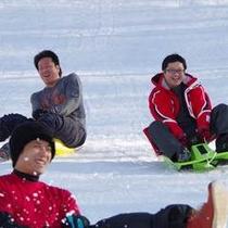 【冬】そりコースは大人も迫力満点