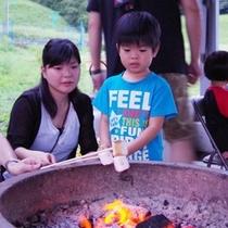♦【夏】キャンププランではデザートに焼きマシュマロの体験も♦