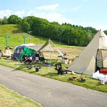 キャンプ芝生区画