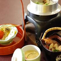 【秋】松茸料理~釜めし、天麩羅、土瓶蒸し、茶わん蒸し~