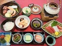 夕食(和食の会席料理例)