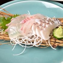 *お夕食一例(お刺身)/日間賀島に来たら絶対海の幸!新鮮なお魚の味、ご堪能下さい。