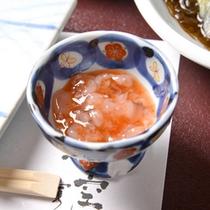 *お夕食一例(塩辛)/誰もが大好きな塩辛。ついついお酒がすすみますよね〜☆