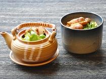 【夕食】松茸土瓶蒸しと松茸ご飯
