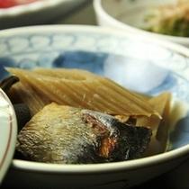 【夕食一例】ハチクとみがきニシンの炊き合せ