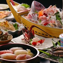 料理一例(伊勢海老つき)