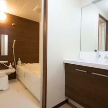 ▼【和室22.5畳(一例)】バストイレがセパレート。広々とした洗面台も◎