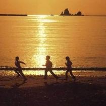 堂ヶ島温泉の夕陽3