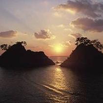 堂ヶ島温泉の夕陽2