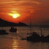 堂ヶ島温泉の夕陽9
