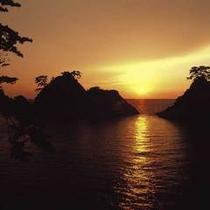 堂ヶ島温泉の夕陽5