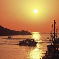 堂ヶ島温泉の夕陽6