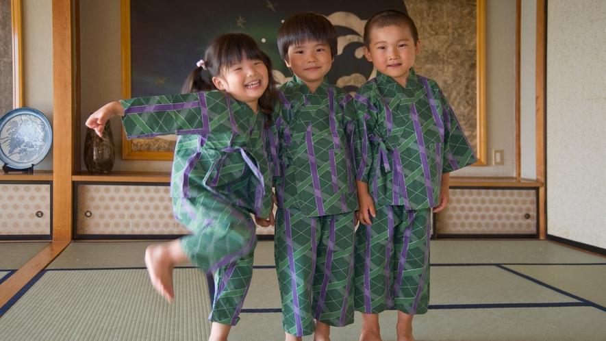 ■子どもも作務衣を着て大喜び。