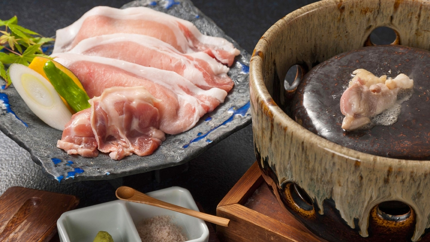 ■静岡のブランド豚&ブランド鶏の石焼き