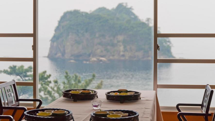 ■食事会場からの眺め。