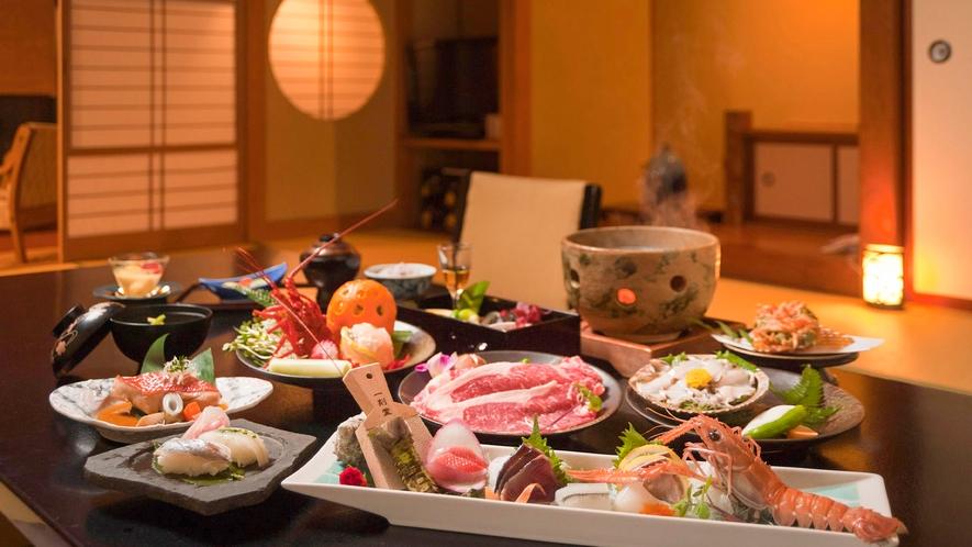 ■お部屋食イメージ(夕食の一例)