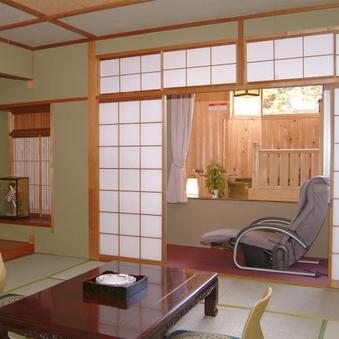 【翠月の間】15畳+次の間【露天風呂付き客室】