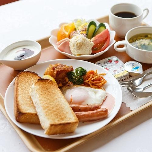 【朝食】ボリューム満点の洋朝食!洋食はコーヒーサービス付!(和or洋食からご選択下さい)