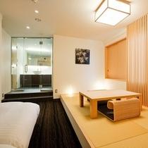 【和洋室】畳とベッドの両方が楽しめる、贅沢なお部屋。