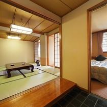 【和洋室:ツインベッド+10畳】やっぱりベッドで快眠♪【紅館】