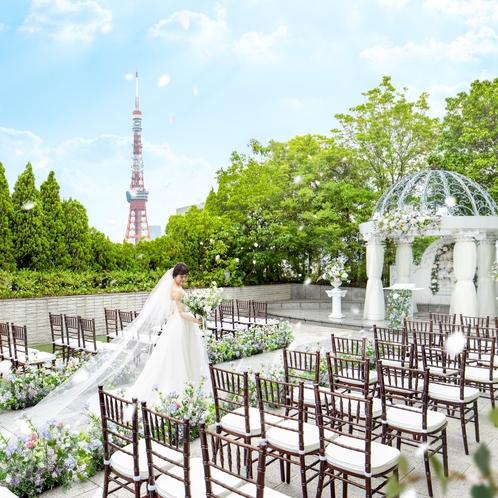 ガーデンチャペルと東京タワー
