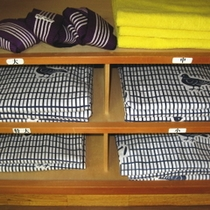 お部屋の浴衣(各種サイズ有)
